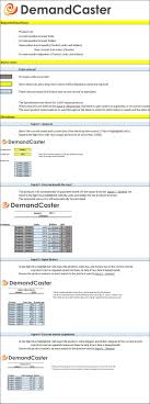 Demand Forecasting Excel Template by Free S Op Excel Template Series Forecast Consumption Template