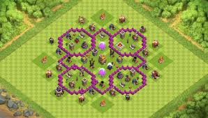 layout coc town hall level 7 best base for town hall 7 clash of clans th7 coc best base
