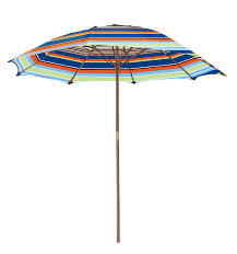 Orange Patio Umbrella by Striped Wooden 6 5 Ft Patio Umbrella Free Shipping On Orders