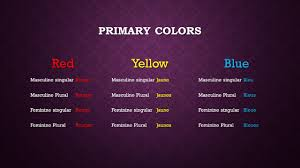 colors in french by ms heather meier primary colors red