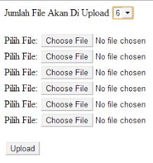 cara membuat form upload file dengan php cara membuat multi upload file dengan php belajar php dan mysql