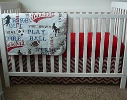 Sports Theme Crib Bedding Sports Crib Bedding Etsy