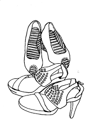 heels coloring pages for free