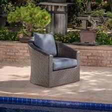 Swivel Patio Chair Barrel Studio Dierdre Outdoor Wicker Swivel Patio Chair With