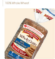 pepperidge farm light bread pepperidge farm whole grain small slice 100 whole wheat bread