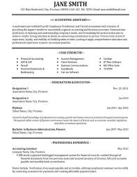 resume sample accounting unforgettable accountant resume examples