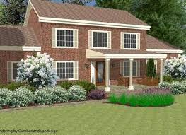colonial front porch landscape design decoratingdecorandmore com