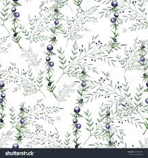 seamless pattern consisting decorative twigs berries stock vector