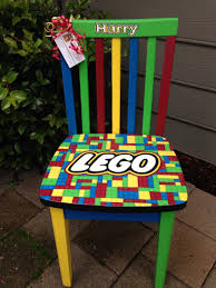 lego custom chair for child lego themed with red blue green