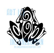 swirl tribal frog design by insaneroman on deviantart