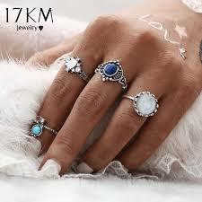 midi ring set 17km fashion new 4pcs set silver color midi ring sets for