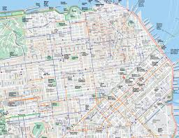 Sf Bart Map Large San Francisco Maps For Free Download And Print High