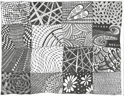 simple zentangle sheet patterns patterns kid