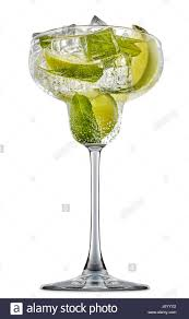 martini mint fresh fruit alcohol cocktail or mocktail in margarita glass with