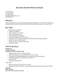 exles of executive assistant resumes resume objective sle for spa receptionistl receptionist