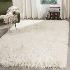Shag Carpet Area Rugs Safavieh Venice Shag Collection Sg256p Handmade Pearl
