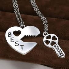 personalized gifts jewelry 2p retro puzzle pendant necklace engraved best friends jewelry
