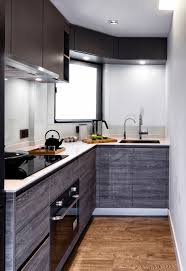 kitchen nice gray modern stylish striped wood nice l shape