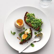 egg boiled soft boiled egg with mashed peas on toast