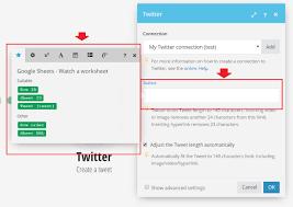 get a tweet on twitter when a new tweet from google sheet row is