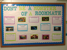 monster university themed about how to be a good roommate ra
