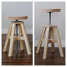 Diy Furniture Plans by Adjustable Height Wood And Metal Stool Knock Off Wood Ana