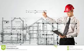 an young architect drawing a house plan stock photo image 73619392