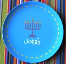 hanukkah plates personalized hanukkah plates knock one of those eight gifts