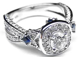 Blue Wedding Rings by Surprising Images Wedding Rings Emerald Cut Diamonds Contemporary