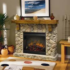 dimplex fieldstone 55 inch electric fireplace inner glow logs