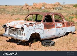 Vintage Ford Truck Australia - old rusty wrecked car outback australia stock photo 53820886