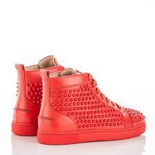 christian louboutin mens calfskin louis spikes flat sneakers 39