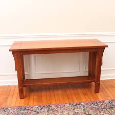 mission style console table bassett furniture mission style oak console table ebth