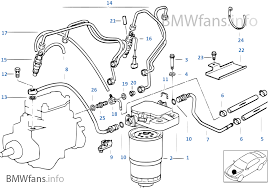 Fuel System E36 Fuel Injection System Diesel Bmw 3 E36 318tds M41 Europe
