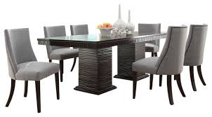 dining room table and chairs homelegance chicago 7 piece pedestal