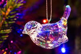 glass robin ornament stock photo image 54394503