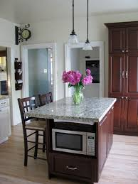 kitchen island with microwave microwave in island houzz