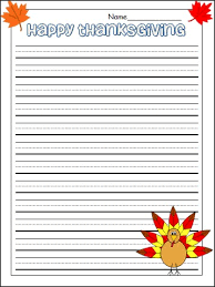 thanksgiving lined writing paper a4 lined paper free