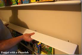How To Make Floating Shelves by Frugal With A Flourish How To Make Floating Book Shelves