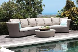 Curve Sofas by Curved Rattan Sofa Sofas Center Unforgettable Curved Outdoor Sofa