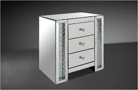 Mirrored Dressers And Nightstands Transitonal Mirrored Nightstand W Artificial Crystals
