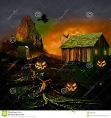 halloween pumpkin and cemetery stock photography image 34363522