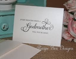 Will You Be My Godparent Invitation Card Amazon Com Every Princess Needs A Godmother Will You Be Mine