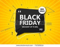 black friday sale poster seasonal discount stock vector 731402707
