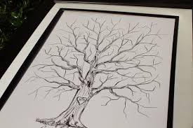 tree guest book guest book alternative thumbprint wedding tree fingerprint wedding