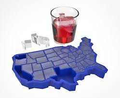 state shaped gifts united states shaped cube tray products