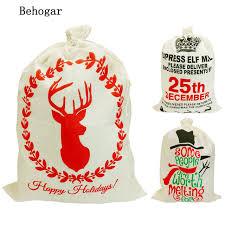 santa sacks behogar 50 x 70 cm large capacity drawstring christmas bag santa