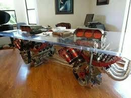 Car Office Desk Fascinating Awesome Desks 7 Salvage Modern Pinterest Glass Design