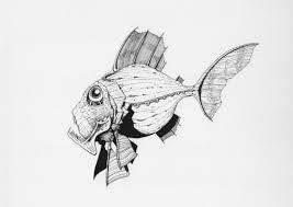 strange fish illustration drawing