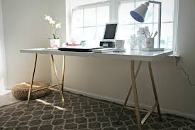 Ikea Hackers Desk My Style Republic Ikea Hack U2013 White Table Top With Gold Legs